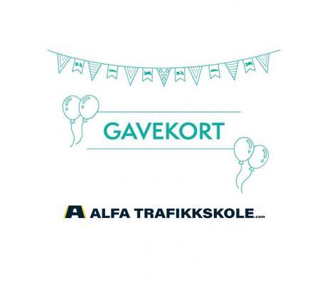 Gavekort Alfa Trafikkskole - Tromsø