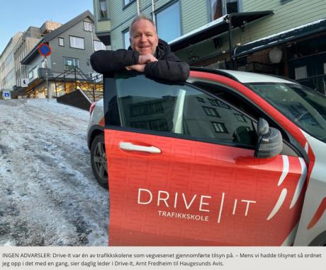 STUDERER: Arnt Fredheim ser fram til å bli ferdig med studiene som gjør han kvalifisert til å kunne bli faglig leder i Drive-It.