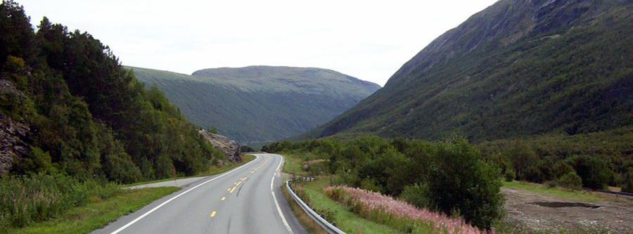 Landevei med biler